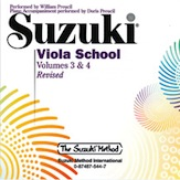 Suzuki, Shinichi; Viola School - CD - William Preucil (Revised), Vol. 3 & 4 - SALE!