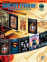 Great Movie Instrumental Solos for Horn in F (w/CD), Level 2-3 - SALE!
