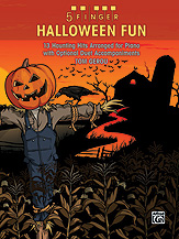 5 Finger Halloween Fun: 13 Haunting Hits Arranged for Elementary Piano with Optional Duet Accompaniments [arranged by Gerou, Tom] - SALE!