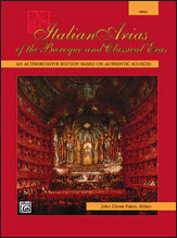 Italian Arias of the Baroque and Classical Eras for High Voice and Piano