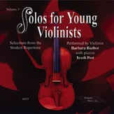 -; Solos for Young Violinists - CD, Vol. 3
