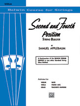 Applebaum, Samuel; Belwin Course for Strings: Second and Fourth Position String Builder - Viola