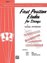 Applebaum, Samuel; Belwin Course for Strings: First Position Etudes for Strings - Viola