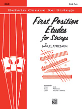 Belwin Course for Strings: First Position Etudes for Strings - Cello