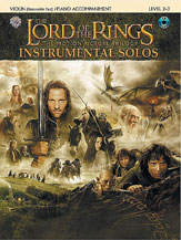 -; The Lord of the Rings Instrumental Solos for Violin and Piano (w/CD), Level 2-3