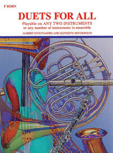 Duets for All - Playable on Any 2 Instruments or any number of instruments in ensemble - French horn - SALE!