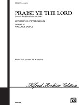 Telemann,  Georg Philipp; Praise Ye the Lord (SSA a cappella) [arranged by Depue, Wallace]