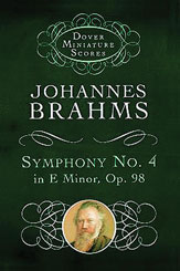Brahms, Johannes; Symphony No. 4 in E minor in Full Score (Study Score), Op. 98
