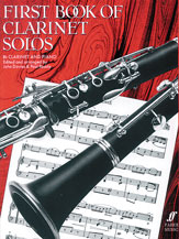 First Book of Clarinet Solos for B-flat Clarinet and Piano - SALE!