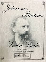 Brahms, Johannes; Sixteen Lieder Transcribed for Solo Trombone and Piano, Vol. 1 [arranged by Carlson, Eric] - SALE!