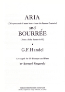 Handel, George Frideric; Aria and Bouree Arranged for B-flat Trumpet and Piano