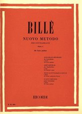 Bille, Isaia; Nuovo Metodo (New Method) for Double-Bass, Vol 1