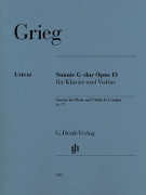 Grieg, Edvard; Sonata for Violin and Piano in G Major, Op. 13 - SALE!