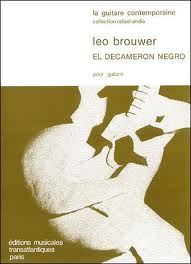 Brouwer, Leo; El decameron negro for Guitar