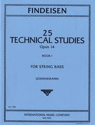 Findeisen, Theodor Albin; 25 Technical Studies for String Bass, Op. 14, Book 1 - SALE!
