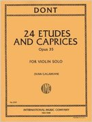 Dont, Jakob; 24 Etudes and Caprices for Violin Solo, Op. 35