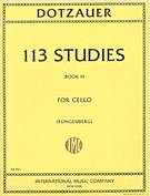 Dotzauer, Friedrich; 113 Studies for Cello, Vol. 3 (No. 63-85)