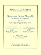 Maxime-Alphonse; 200 New Melodic and Gradual Studies for Horn (in 6 Books), Book 3