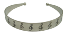 Bangle - Pewter with Clef
