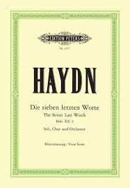 Haydn, Franz Josef; Seven Last Words of Our Savior on the Cross (SATB), Hob. XX:2