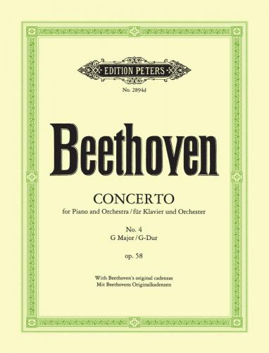 Beethoven, Ludwig van; Concerto No. 4 in G major for Piano and Orchestra (Piano Reduction), Op. 58