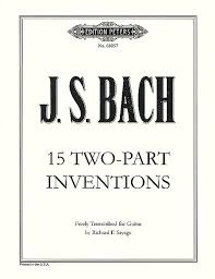 Bach,  Johann Sebastian; 15 Two-Part Inventions Freely Transcribed for Guitar, BWV 772-786 [arranged by Sayage, Richard F.] - SALE!