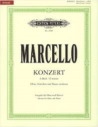 Marcello, Allessandro; Concerto in D minor for Oboe, Strings and Basso Continuo (Edition for Oboe and Piano), Urtext - SALE!