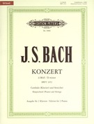 Concerto in D minor for Harpsichord (Piano) and Strings (Piano Reduction), BWV 1052 (Urtext)