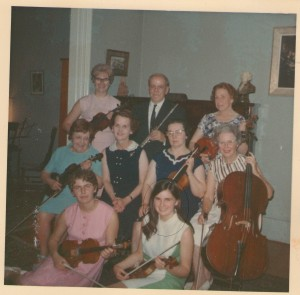 Margaret with the Farnham ensemble