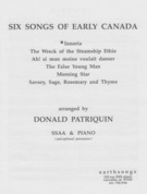 Six Songs of Early Canada: Innoria (Huron Dance Song) (SSAA) [arranged by Patriquin, Donald]