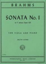 Brahms, Johannes; Sonata No. 1 in F minor for Viola and Piano, Op. 120