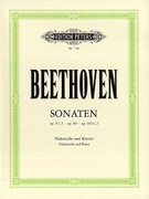 Beethoven, Ludwig van; 5 Cello Sonatas, Complete Edition for Cello and Piano, Op.5 (1, 2), 69, 102 (1, 2)